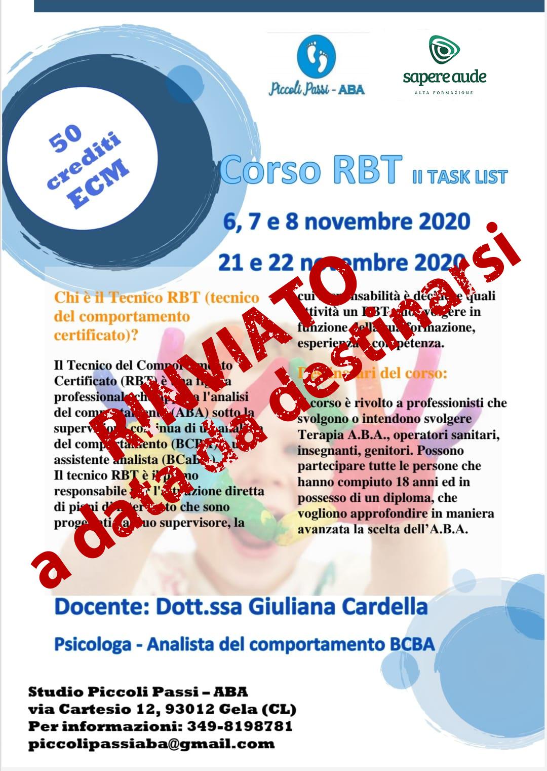 Corso RBT